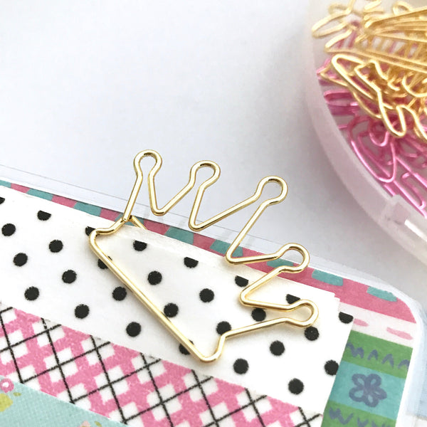 Gold Crown Paper Clips