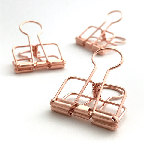 Rose Gold Binder Clips