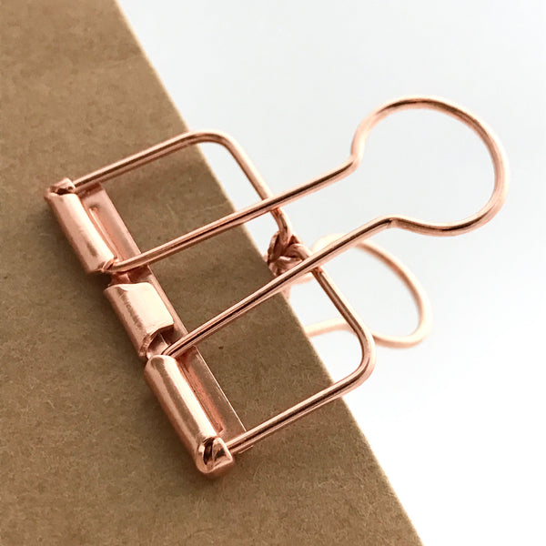 Rose Gold Skeleton Clips
