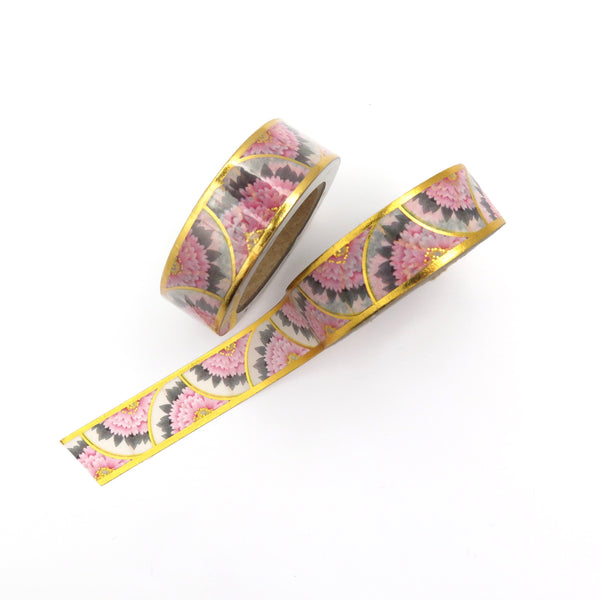 Scalloped Gilded Flower Washi Tape