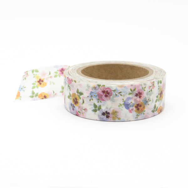 Pansy Flower Washi Tape