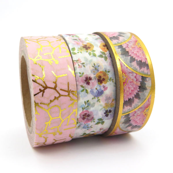 Scalloped Gilded Floral Washi Tape