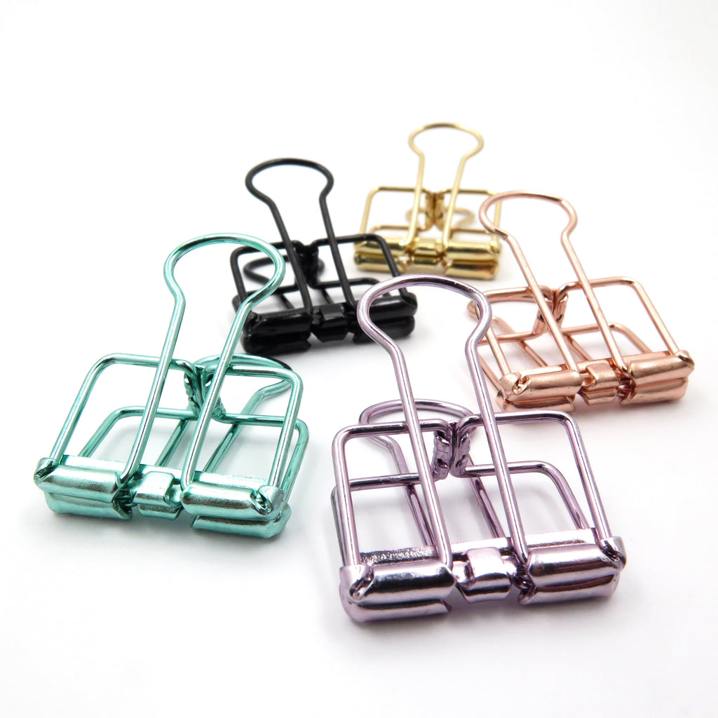 Hollow Binder Clips Set