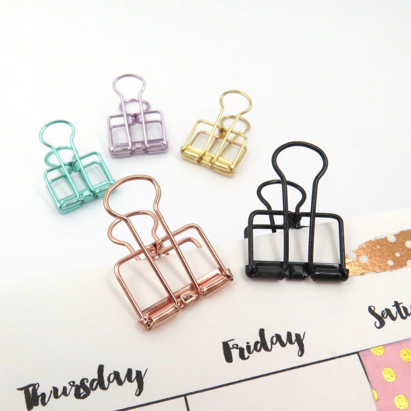 Planner Clips 19mm Bulldog Set