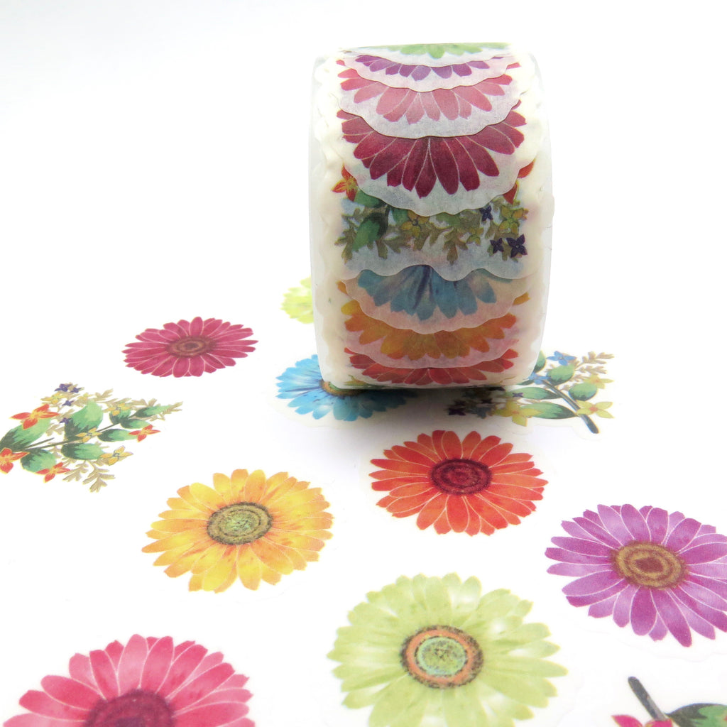 Washi Tape, Die Cut Flowers