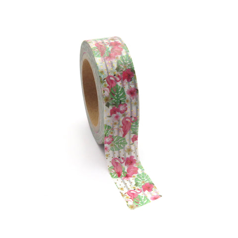Washi Tape, Flamingo Palm