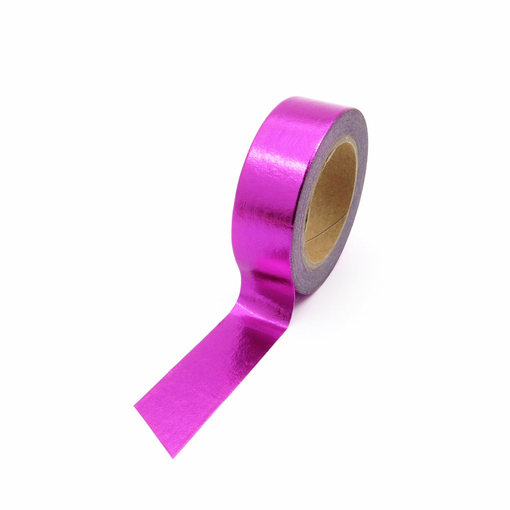Washi Tape, Metallic Foil, Pink