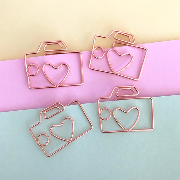 Planner Paper Clips Rose Gold Camera