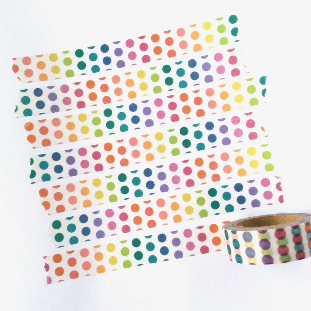 Rainbow Polka Dot Washi Tape