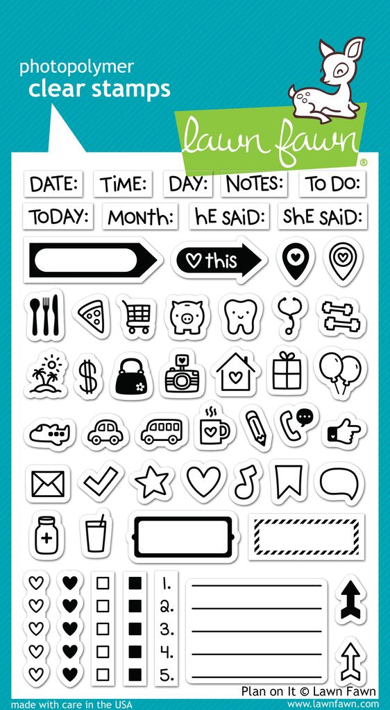 Plan on It Planner Stamp Set by Lawn Fawn