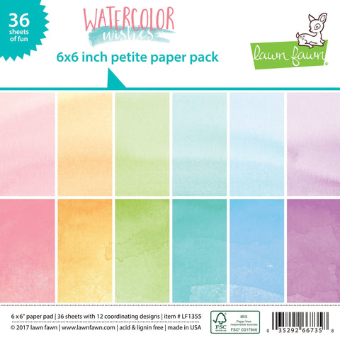 LF1355 - Water Color Wishes Petite Paper Pack