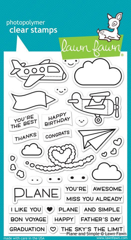 LF1409 Plane and Simple Stamp Set
