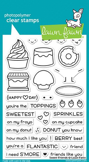 "LF1551 - Sweet Friends - Stamp Set 6""x 4"""