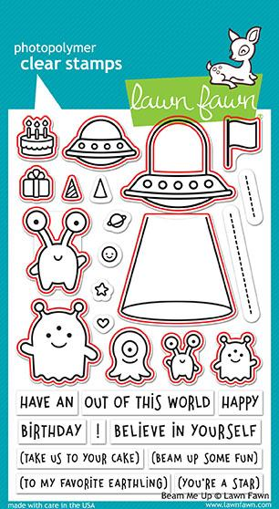 Beam Me Up Stamps and Dies by Lawn Fawn