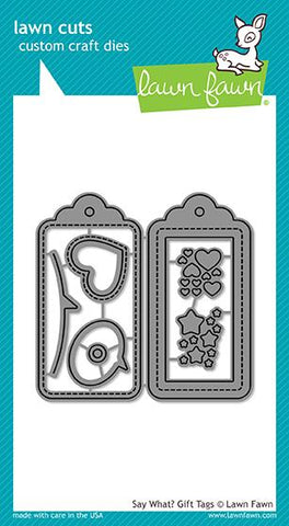 Say What? Gift Tags Dies - Lawn Cuts LF1780