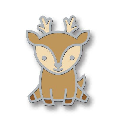 Hello Deer Enamel Pin by Lawn Fawn