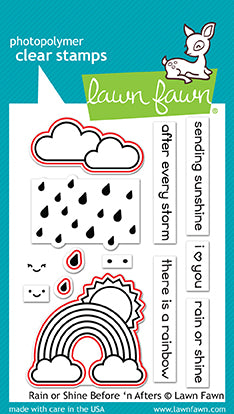 LF1888 - Rain Hail or Shine Before 'n Afters - Stamp Set