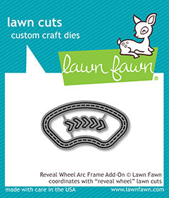 Arc frame for lawn fawn reveal wheel