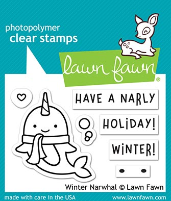 Winter Narwhal Stamp set by lawn fawn LF2038