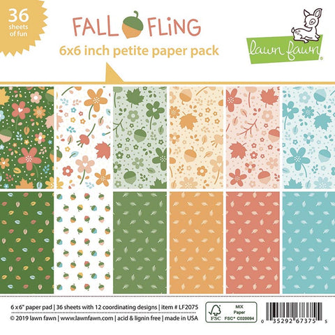 Fall Fling 6x6 Paper Pad by Lawn Fawn