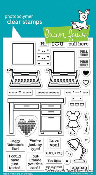 LF2165 You're just my Type stamp set by Lawn Fawn