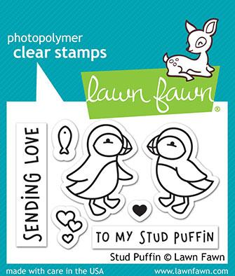Stud Puffin Stamp Set by Lawn Fawn - LF2169