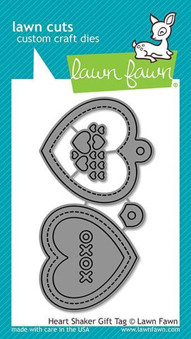 Heart Shaker Gift Tag Die by Lawn Fawn