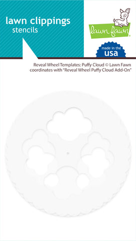LF2350 Lawn Clippings - Reveal Wheel Templates: Puffy Cloud