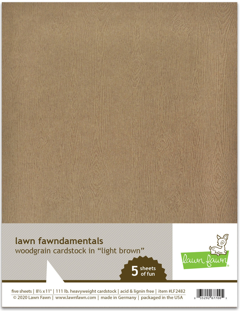LF2482 - Woodgrain Cardstock - Light Brown