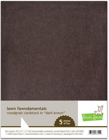 LF2483 - Woodgrain Cardstock - Dark Brown