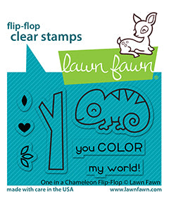 Lawn Fawn LF2512 One In A Chameleon Flip-Flop