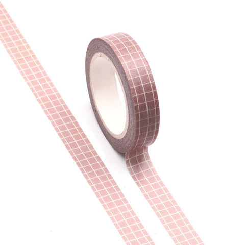 Washi Tape Neutral Grid 10mm