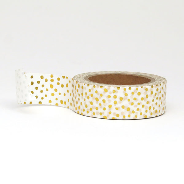 Washi Tape, Gold Foil, Polka Dots