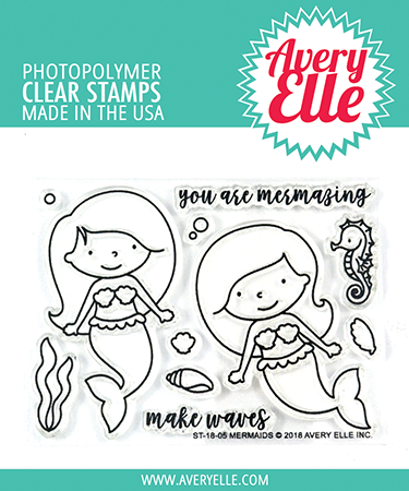 Mermaids stamp set by Avery Elle