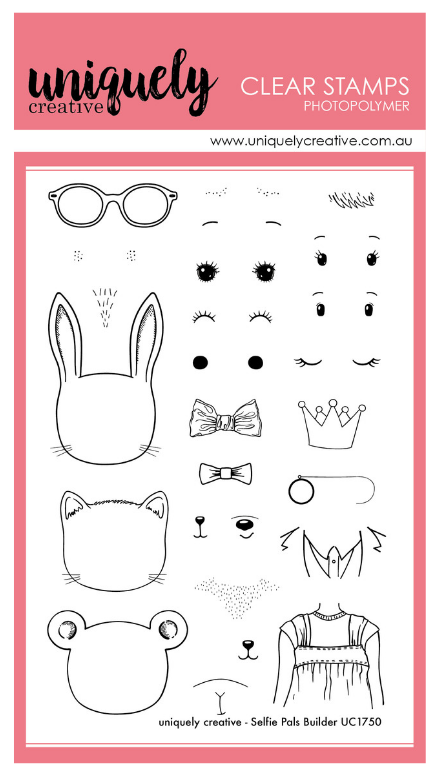 UC1750 Selfie Builder Pals Photopolymer Stamp Set