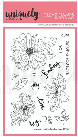 UC1767 Sending Love Photopolymer Stamp Set
