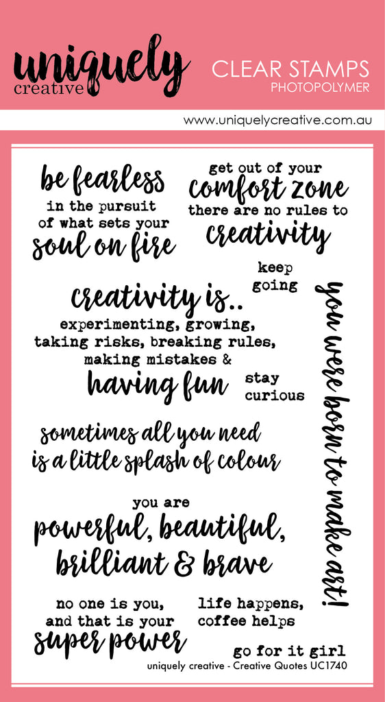 UC1740 Creative Quotes Sentiment Stamp