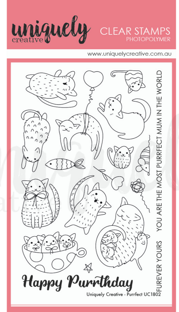 Purrfect Cat Stamp Set by Uniquely Creative