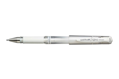 Signo Broad Gel Ink Roller Ball Pen - White