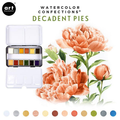 Watercolor confections - Decadent Pies