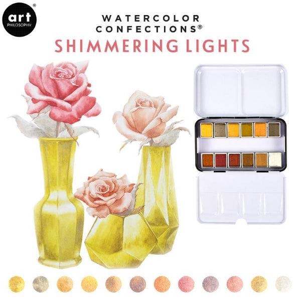 Shimmering Lights Watercolor Confections