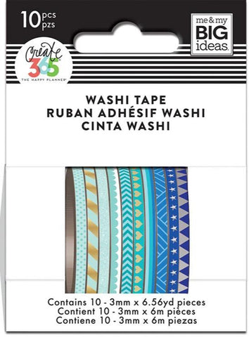 Washi Tape Set - Mini Washi - Blue Hues