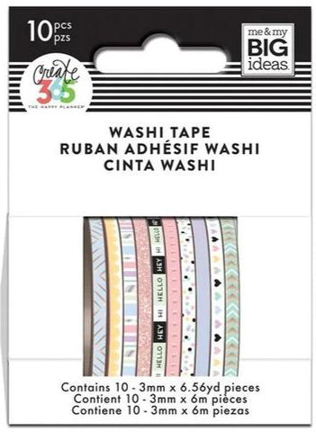 Washi Tape Set - Mini Washi - Pastel