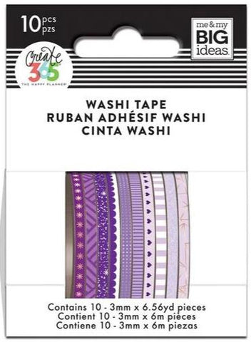 Washi Tape Set - Mini Washi - Purple Hues