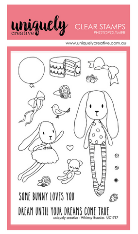 UC1717 Whimsy Bunnies Photopolymer Stamp Set