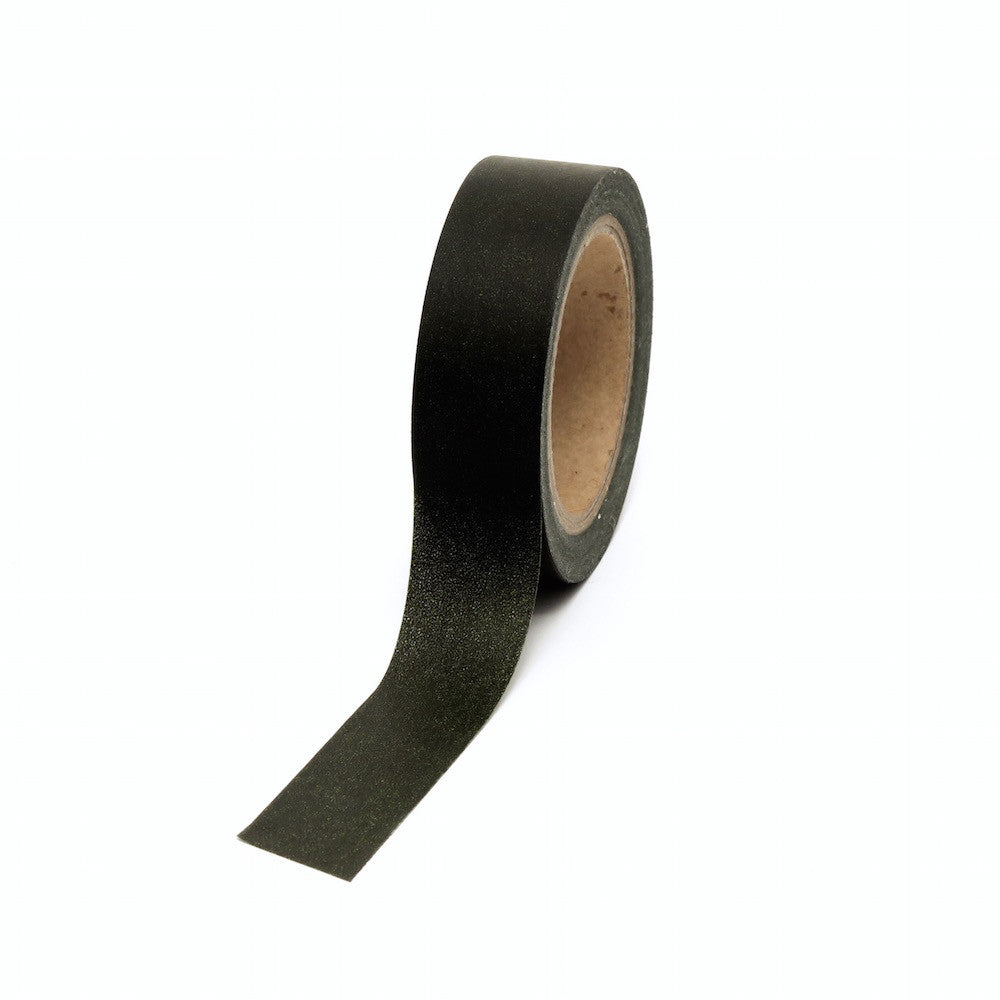 Washi Tape, Black, Plain