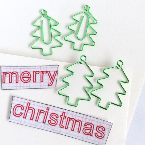 Christmas Tree Paper Clips
