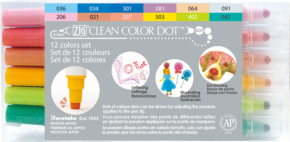 Zig Clean Color Dot Pens