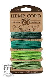 Hemp Cord Card #20 - Emerald