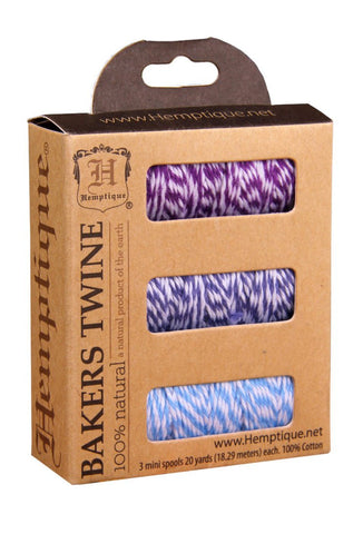 Boxed Cotton Bakers Twine Mini Spools #20 - Dolphin